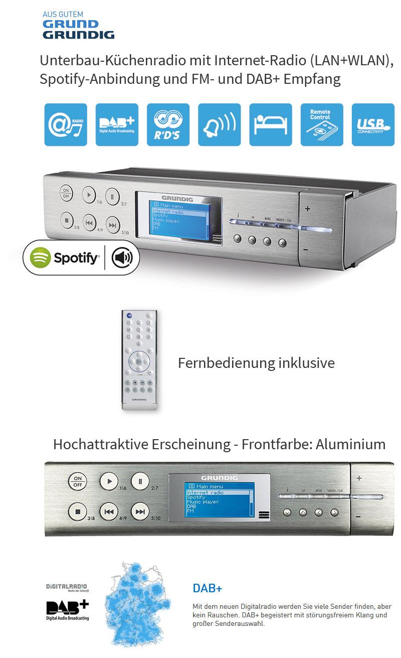 Grundig Sonoclock 895 WEB DAB+ UKW Webradio Internet ...