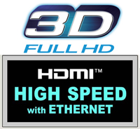 HDMI High Speed HighSpeed with Ethernet 3D FULL HD 1.4